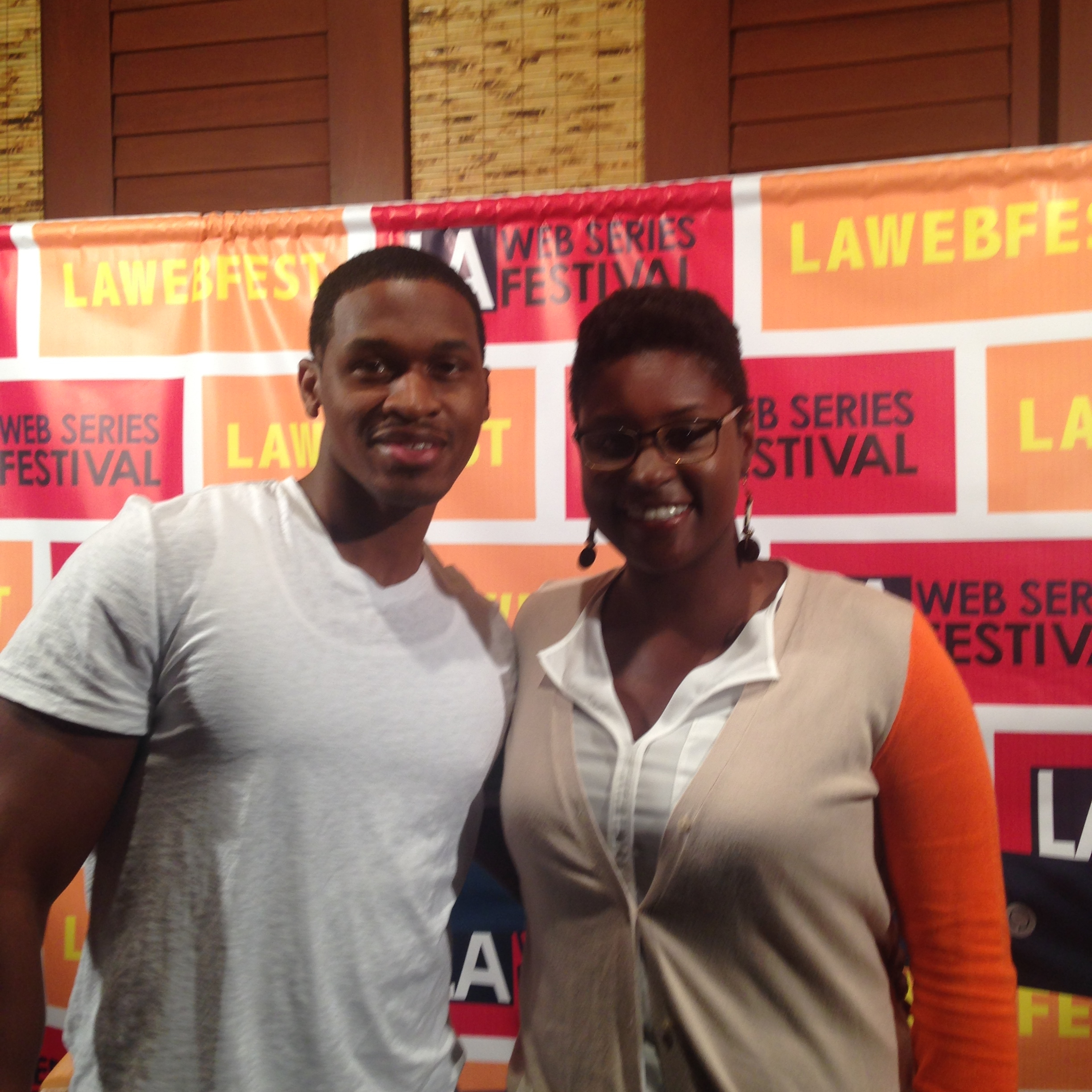 Kyree Terrell with Issa Rae (Creator of Awkward Black Girl) at LA Fest